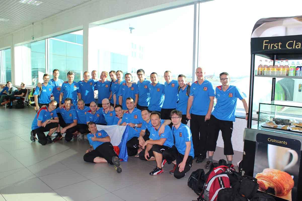 Reprezentace na cestě do Brazílie